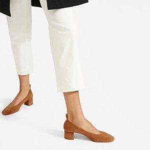 Everlane The Day Heel in Tan Cognac Suede 6.5